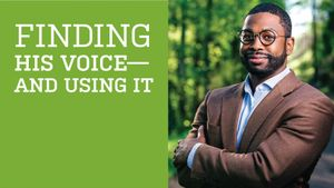 Finding His Voice—and Using It