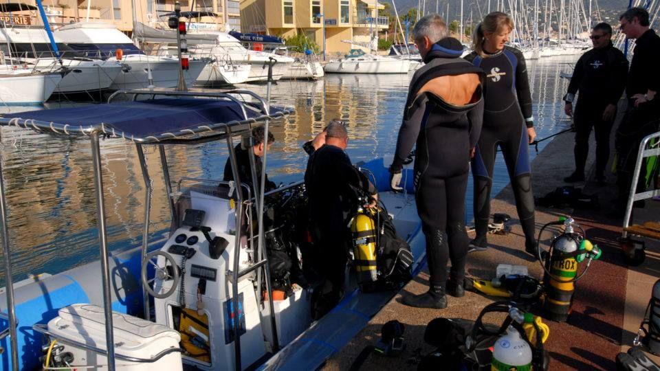 Préparation d'une plongée