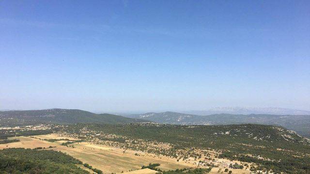 Vue panoramique depuis Sainte Baume