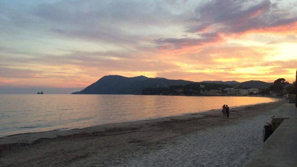 Une soirée sur la plage