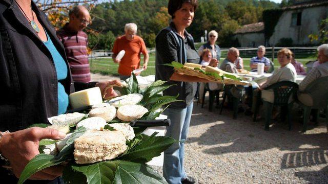 Visite chez un producteur à Châteaudouble