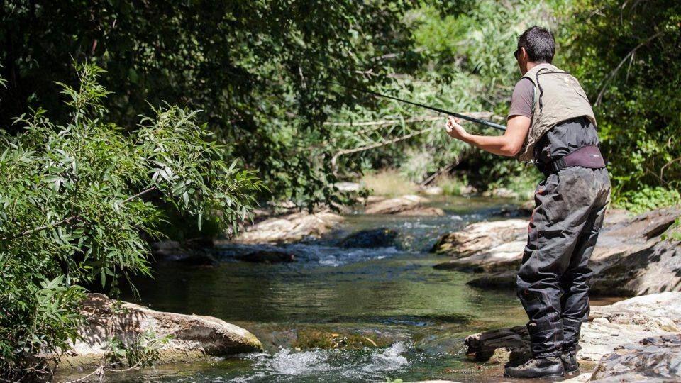 Activité de pêche en eau douce