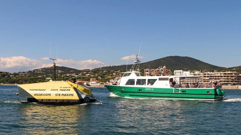 Balade en mer et aquascope à Sainte Maxime
