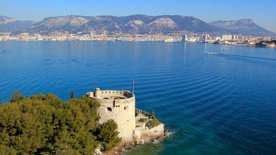 Le fort Balaguier et la rade de Toulon