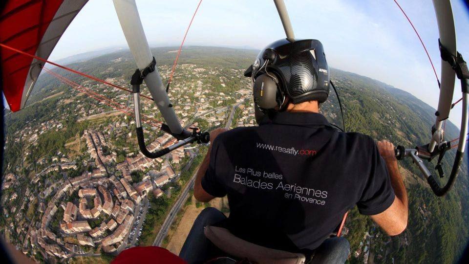 Vol en ULM au dessus de Flayosc
