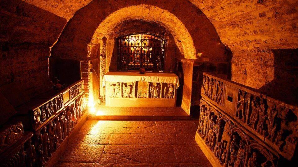 Crypte de la basilique de Saint Maximin