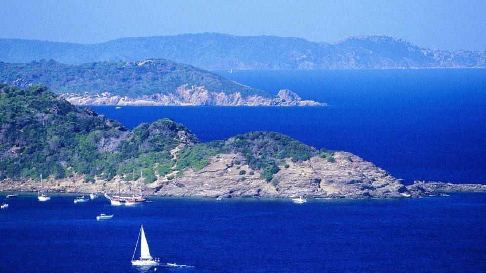 Paysage de Porquerolles et Port Cros