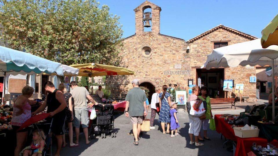 Le marché de Roquebrune