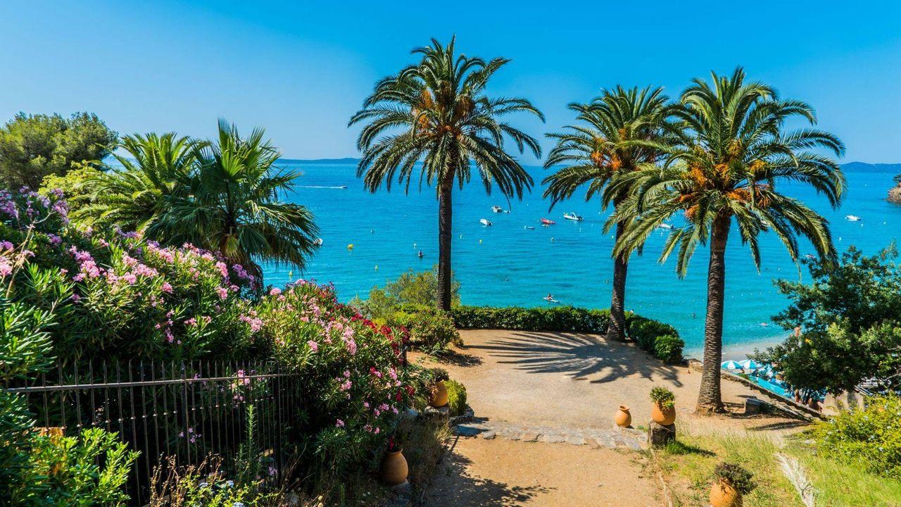Paysage de Rayol Canadel sur Mer dans le Var