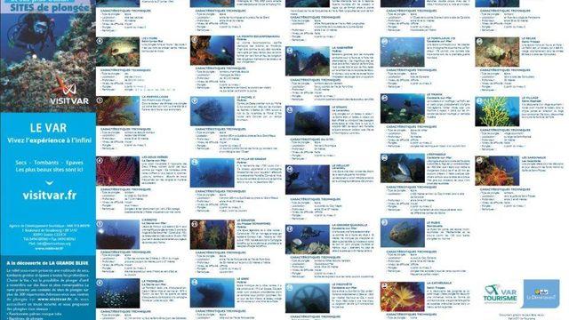 carte des sites de plongée dans le Var