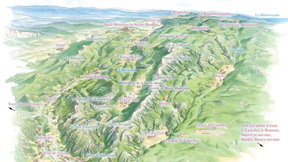 carte Massif Sainte Baume - 2018-2019