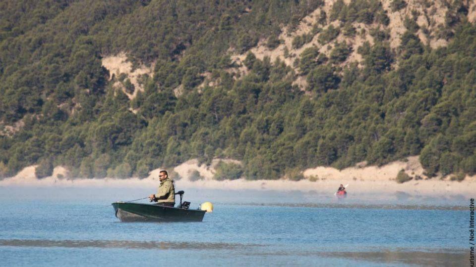 Peche sur le lac de Sainte Croix