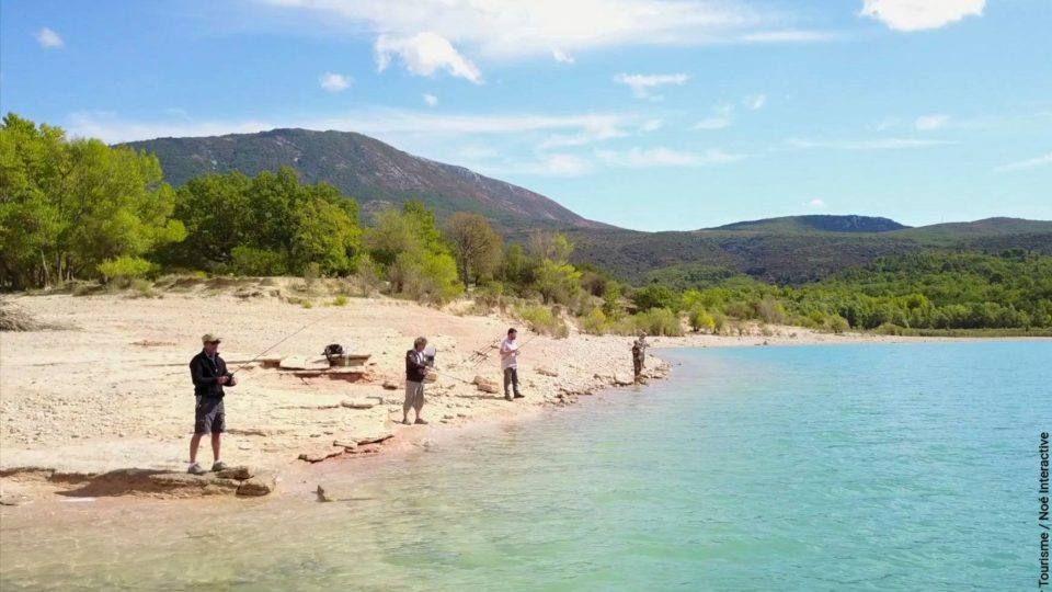 Peche au lac de Sainte Croix