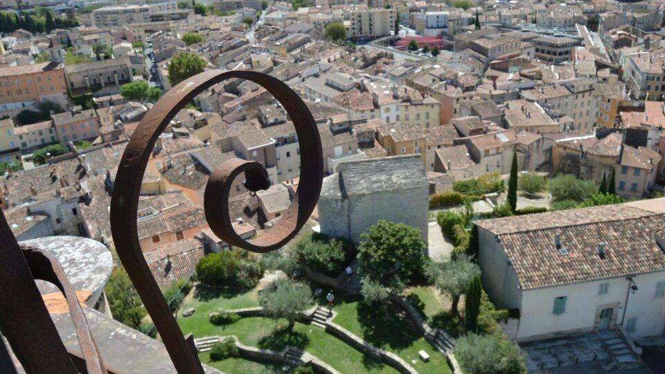Vue depuis la tour de l'horloge à Draguignan