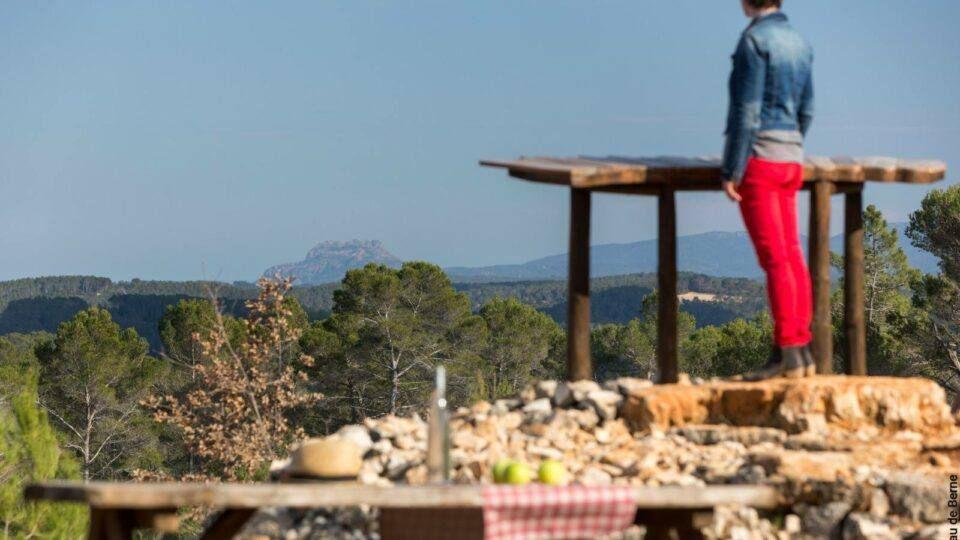 De splendides panorama depuis le village de Flayosc