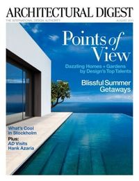 Recent project by Xavier David featured on the cover of Architectural Digest.