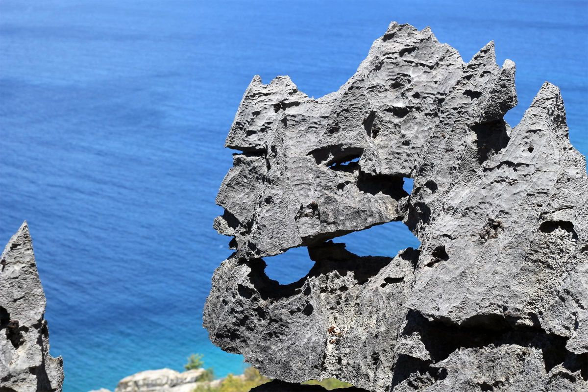 Exotic volcanic rock formations.