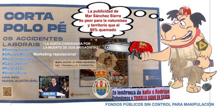 Mar Sánchez Sierra el mayor peligro de Galicia, para su economía, política y sociedad ahogándola en FAKE NEWS con publicidad totalmente absurda que debería investigar la fiscalía.