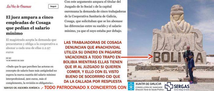 #NachoVidal remite a Xornal Galicia 3 burofaxes en su propio nombre y de, Scanner Orense Sl, COSAGA, solicitando su publicación sin acreditar que es verdadero y que es falso...