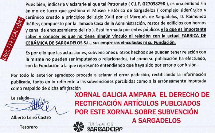 Sargadelos y la Fundación Saragadelos aclara en un comunicado que no mantiene ningún tipo de vínculo con El Real Museo de Sargadelos.