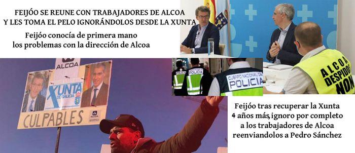 Feijóo conocía personalmente desde hace meses los graves problemas con la dirección de Alcoa y Inespal ignorándolos deliberadamente por completo.