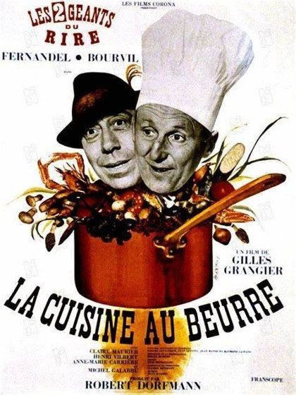 La Cuisine au beurre - Fernandel, Bourvil 1963 Rediff HDTV 1080i Full TS AC3 N/B