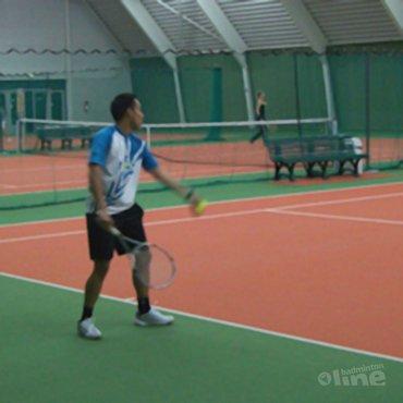 Racketlonnen met Dicky Palyama
