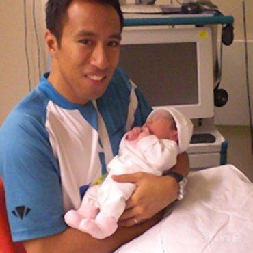 Dicky en zijn dochter Lilly Mei Palyama