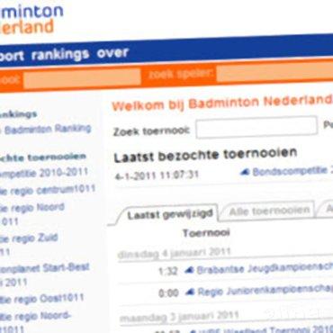 Nieuwe toernooi.nl voor Badminton Nederland