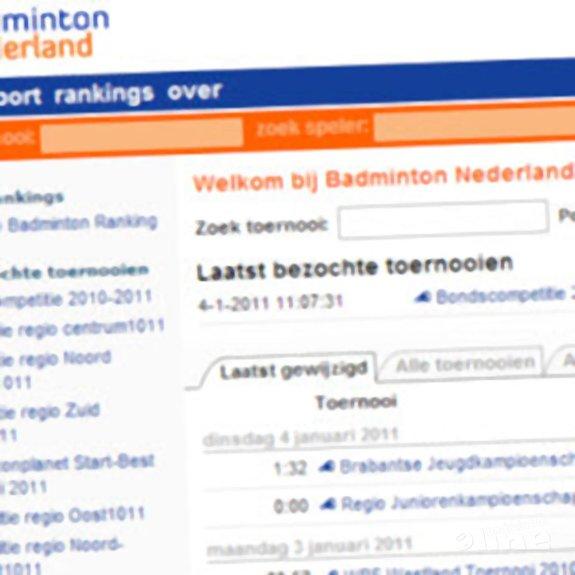 Nieuwe toernooi.nl voor Badminton Nederland - toernooi.nl