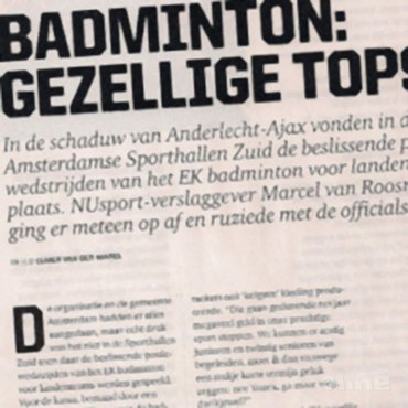 Badminton: gezellige topsport