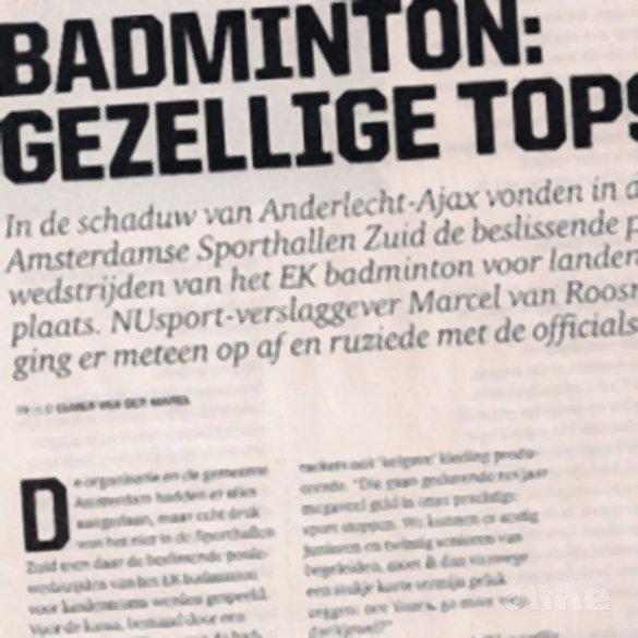 Badminton: gezellige topsport - NU Sport