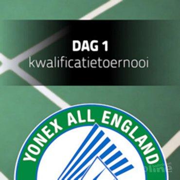 Speelschema Nederlanders tijdens All England