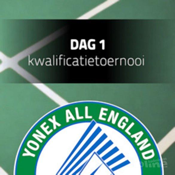 Speelschema Nederlanders tijdens All England - All England