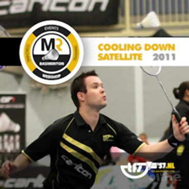 MR Badminton hoofdsponsor Cooling Down Satellite