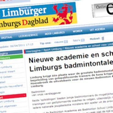 Nieuwe academie en school voor Limburgs badmintontalent