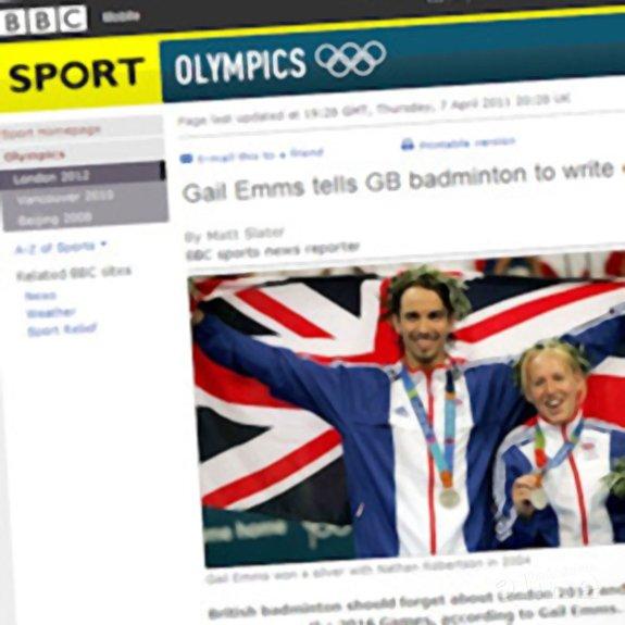Deze afbeelding hoort bij 'Emms joins Badminton England coaching staff' en is gemaakt door BBC News