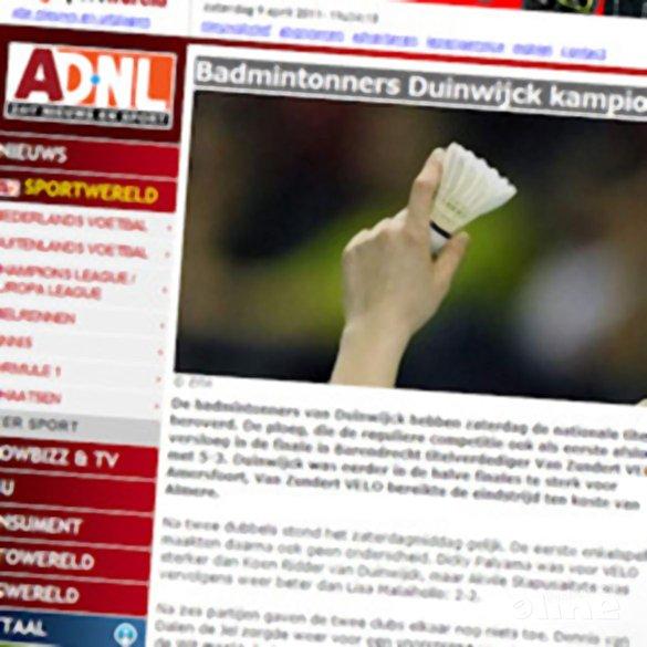 Badmintonners Duinwijck kampioen - AD Sportwereld