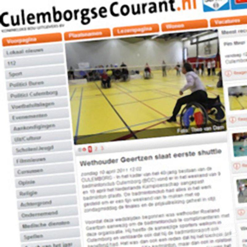 Wethouder Geertzen slaat eerste shuttle - Culemborgse Courant