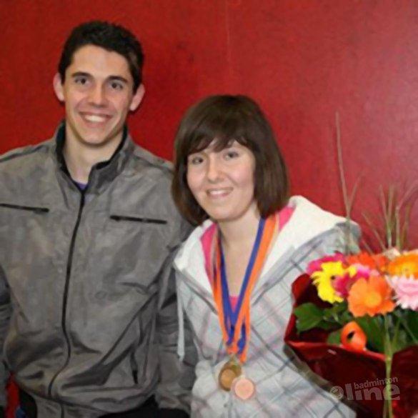 Anouk Meijs Nederlands kampioen aangepast badminton - Stef Meijs