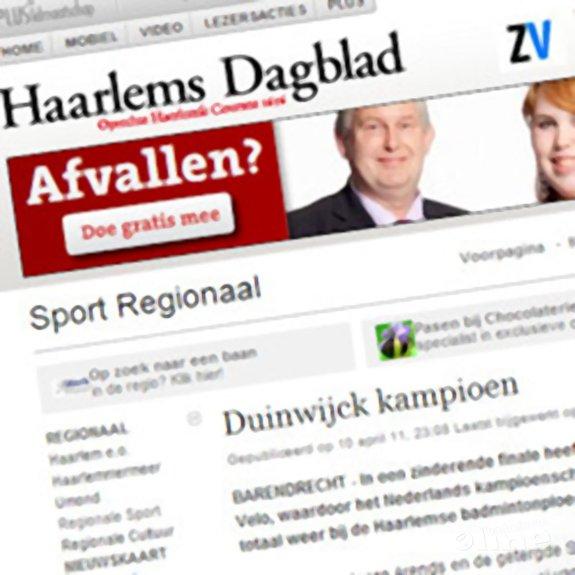 Deze afbeelding hoort bij 'Duinwijck kampioen' en is gemaakt door Haarlems Dagblad
