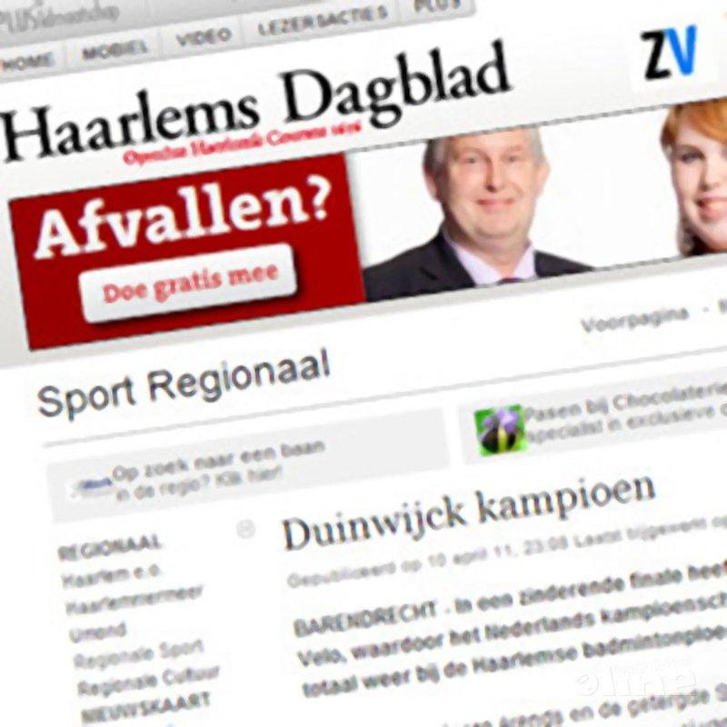 Duinwijck kampioen - Haarlems Dagblad