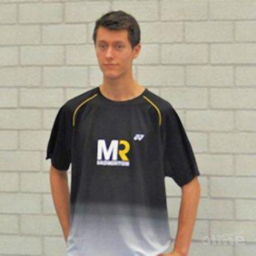 Vincent de Vries wordt gesponsord door MR Badminton