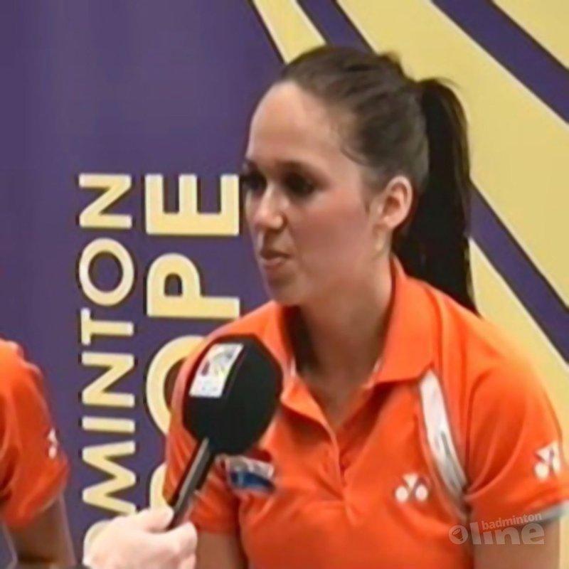 Thamar Peters blij met overwinning - badmintoneurope.tv