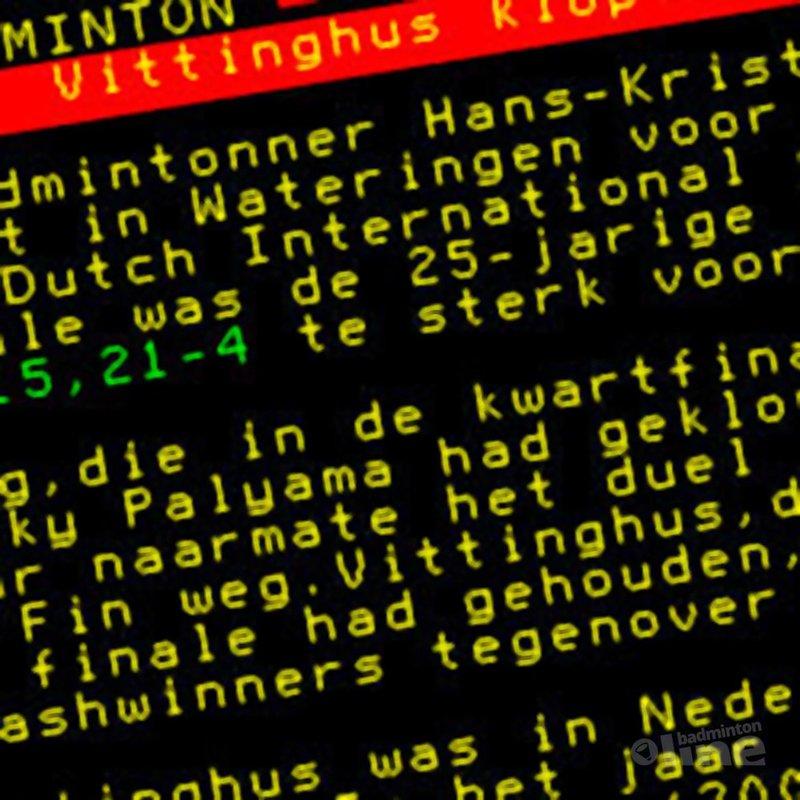 Vittinghus klopt Lang in finale - NOS Teletekst