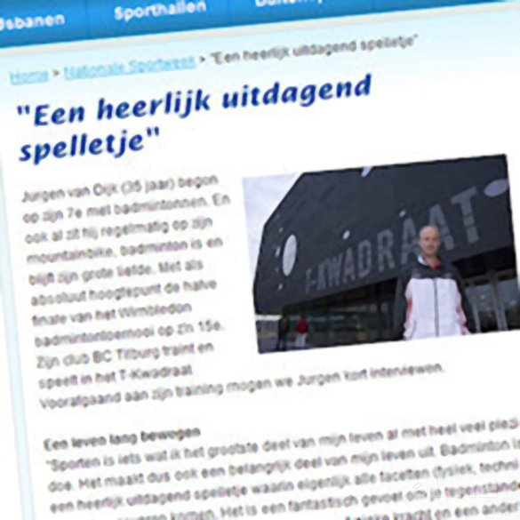 Jurgen van Dijk: 'Een heerlijk uitdagend spelletje' - Sport in Tilburg