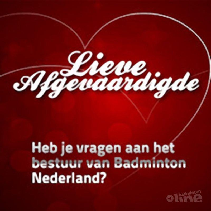 Lieve afgevaardigde - badmintonline.nl