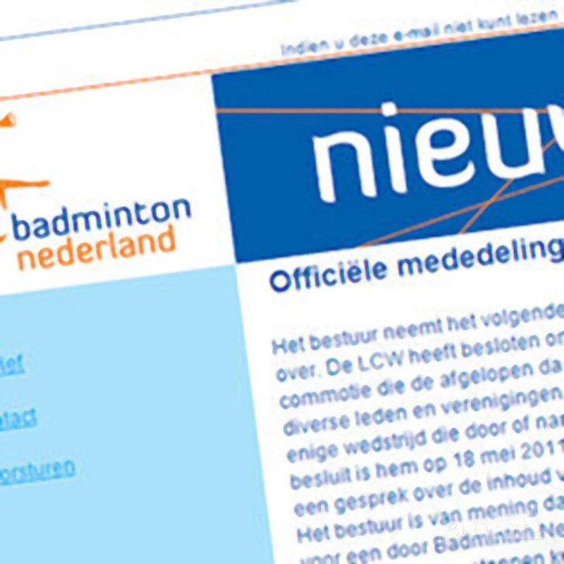 Officiële mededeling LCW over scheidsrechter Jeffrey Boekstaaf - Badminton Nederland