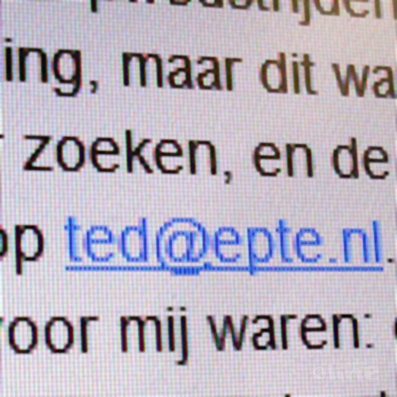 Eerste reactie Ted van der Meer zelf