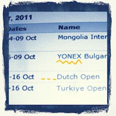 Yonex Dutch Open van 11-16 oktober